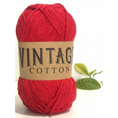 Vintage Cotton 22 Red
