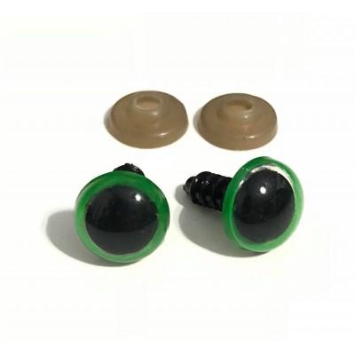 Ματάκια Βιδωτά Πράσινα (ζευγάρι)