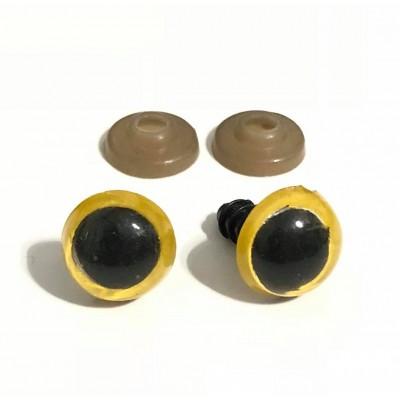 Ματάκια Βιδωτά Κίτρινα (ζευγάρι)