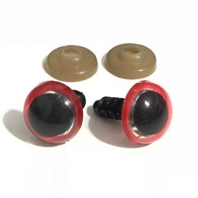 Ματάκια Βιδωτά Κόκκινα (ζευγάρι)