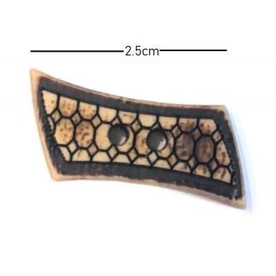 Μπαμπού Κουμπάκι 2,5cm (20)