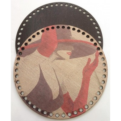 Ξύλινο Διακοσμητικό Τσάντας 45 (20x20cm) ζευγάρι