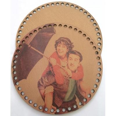 Ξύλινο Διακοσμητικό Τσάντας 48 (20x20cm) ζευγάρι