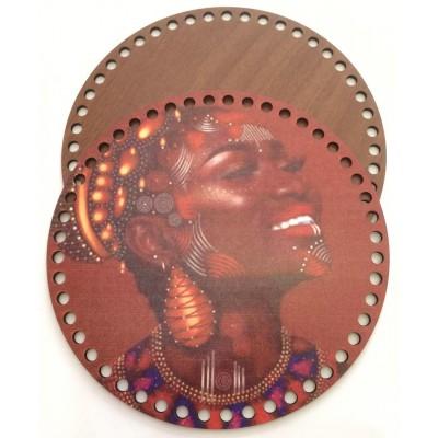 Ξύλινο Διακοσμητικό Τσάντας 46 (20x20cm) ζευγάρι