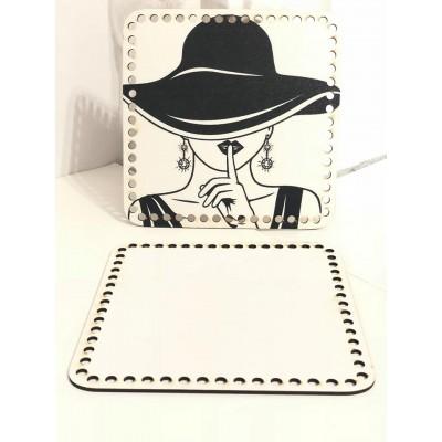 Ξύλινο Πλαϊνό Τσάντας 04 (20x20cm)