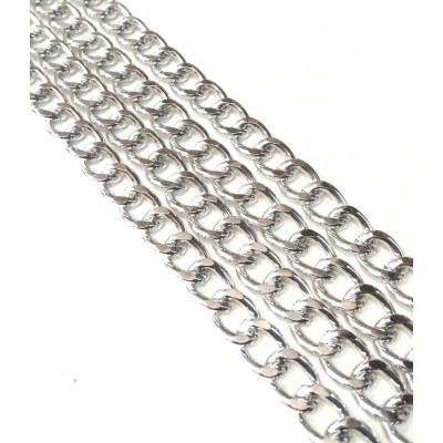 Αλυσίδα  Ασημί Μεσαία Νο31  (1 μέτρο)