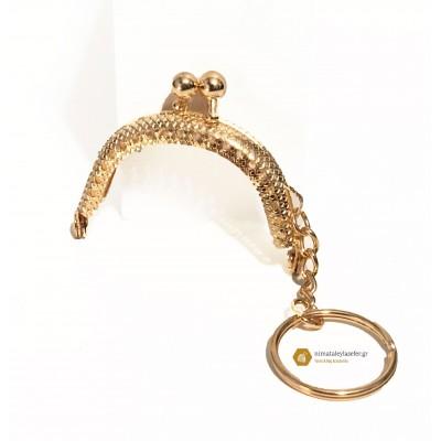 Κούμπωμα Μπρελόκ Χρυσό 5cm