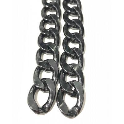 Αλυσίδα Χοντρή Black Nickel No5 (1 μέτρο)