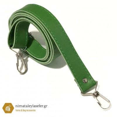Δερμάτινο Λουρί Ταχυδρόμου 1,30cm Πράσινο