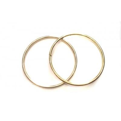 Μεταλλικά Χερούλια 15cm Στρόγγυλο (Χρυσό)