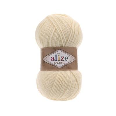 Alize Alpaca Royal 01 Κρεμ