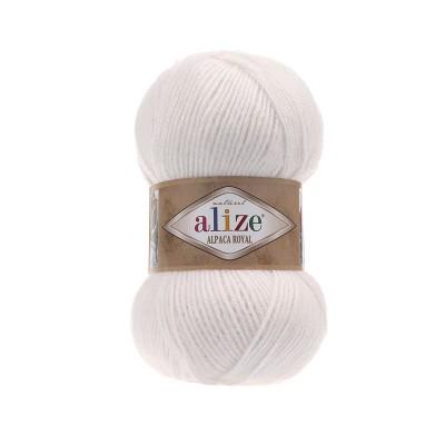 Alize Alpaca Royal 55 Άσπρο