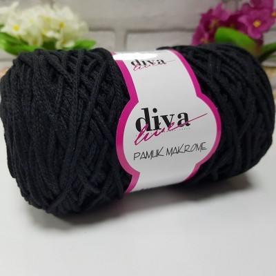 Diva Cotton Macrame 1 Μαύρο