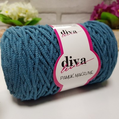 Diva Cotton Macrame 13 Πετρόλ